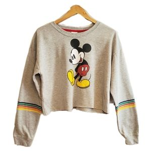 Disney Mickey Mouse Crop Sweater Size M